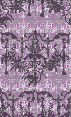 1892 Bird On a Wire Damask ~ Amaranthine