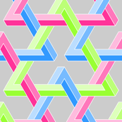 impossible interlocking triangles 1 x3