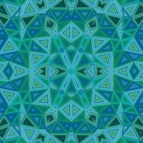 Blue Green Triangles © Gingezel™