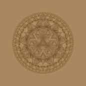 Brown Escher Disk 1 © Gingezel™