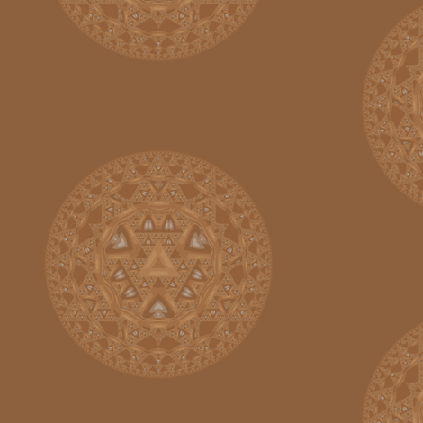 Brown Escher Disk 2 © Gingezel™