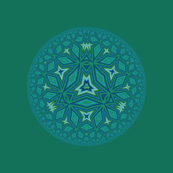 Blue Green Escher Disks 2 © Gingezel™