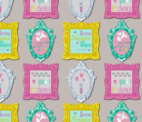 Chemistry of Love fabric by vannina on Spoonflower - custom fabric