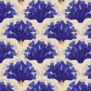 indigo_coral_with_starfish_on_natural_linen
