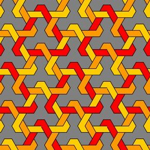 interlocking triangles x3