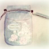 Damask rose beauty cream jar moosecat