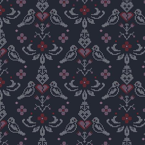 broken heart fabric by lilliblomma on Spoonflower - custom fabric