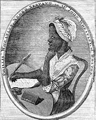 Phillis Wheatley Fabric The Bookly Quilter Spoonflower