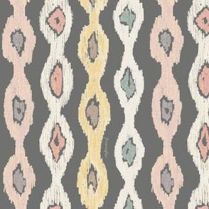 Aztek Stripe  -gray-