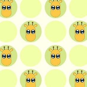 Sage Small Giraffe Dots