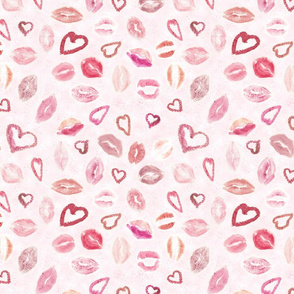 Hearts & Kisses pink