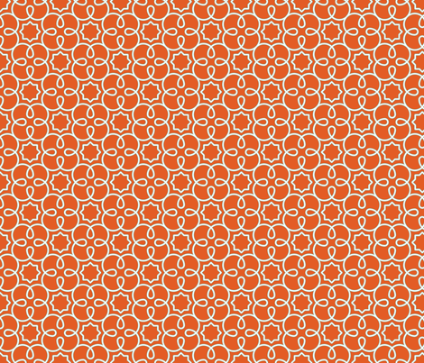 Geometric Loopy - Orange  - Quilting Scale fabric by anntuck on Spoonflower - custom fabric