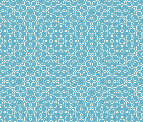 Geometric Loopy - Blue - Quilting Scale fabric by anntuck on Spoonflower - custom fabric
