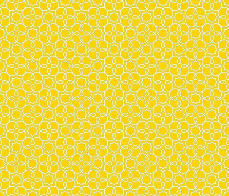 Geometric Loopy - Yellow - Quilting Scale fabric by anntuck on Spoonflower - custom fabric