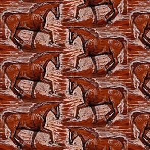 Cherry Teak Horse