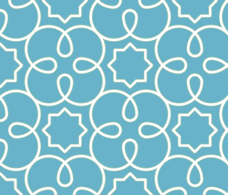Geometric Loopy - Blue fabric by anntuck on Spoonflower - custom fabric