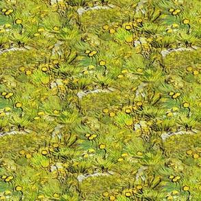 Van Gogh A Field of Yellow Flowers