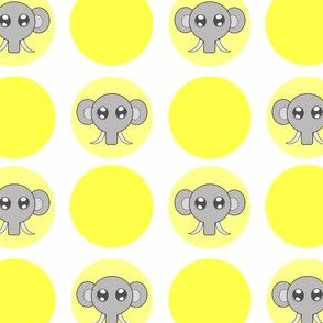 Yellow Small Elephant Dots