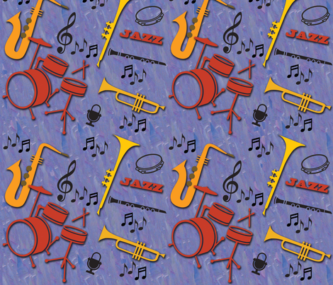 JazzMusicNew fabric by colleen_currans_bush on Spoonflower - custom fabric