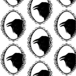 vintage raven cameo