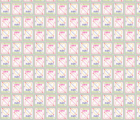 Cupid wanted fabric by axelle_design on Spoonflower - custom fabric