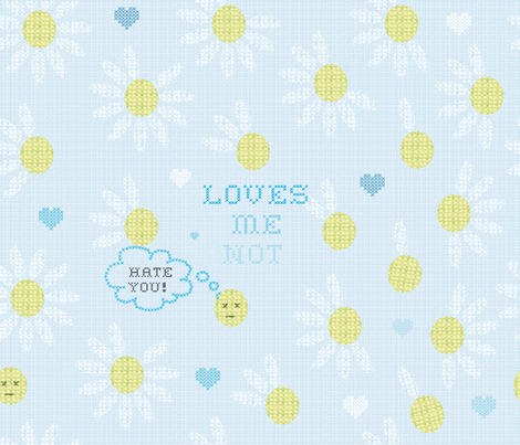 loves_me_not fabric by cibelle on Spoonflower - custom fabric