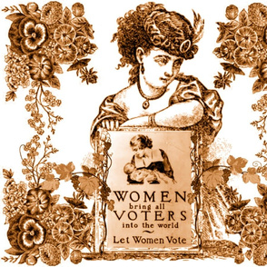 WOMEN VOTERS COPPER TOOLE PILLOW