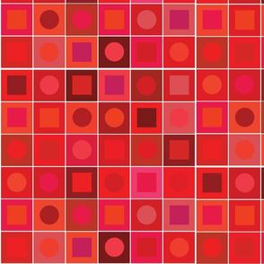 checkers - medium red