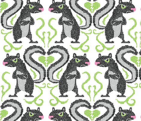 Love Stinks fabric by sammyk on Spoonflower - custom fabric