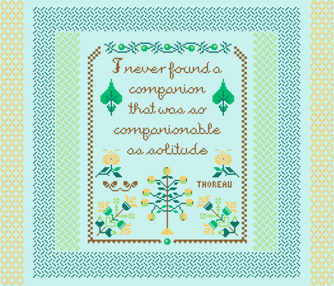 Companionable Solitude FQ Panel fabric by mongiesama on Spoonflower - custom fabric