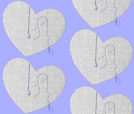 The Neglected Heart #2 fabric by krussimages on Spoonflower - custom fabric