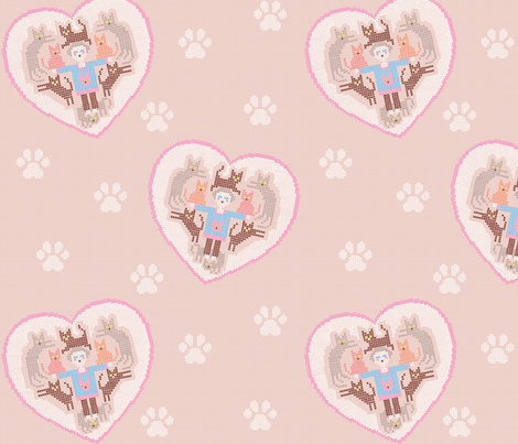 Cat Lady Love fabric by emilywhittaker on Spoonflower - custom fabric