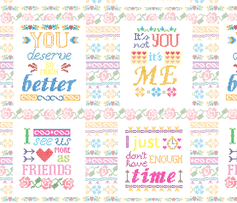 I like you but fabric by p_kok on Spoonflower - custom fabric