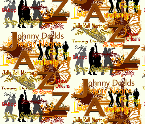 All That Jazz 2 fabric by charldia on Spoonflower - custom fabric