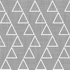 Dancing Triangles - white on grey-EK