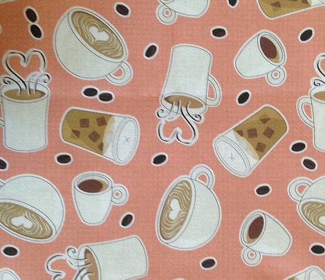 Coffee Lover - Pink and Brown