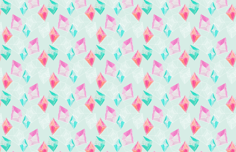 Watercolor Gemstone fabric by emilysanford on Spoonflower - custom fabric
