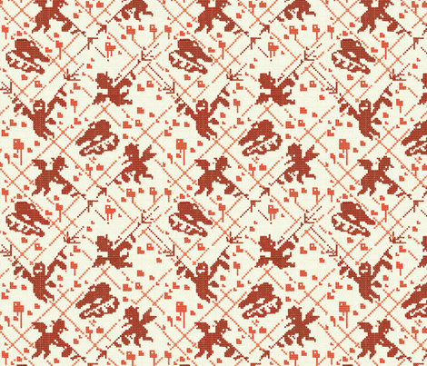 Love Massacre fabric by theinklab on Spoonflower - custom fabric