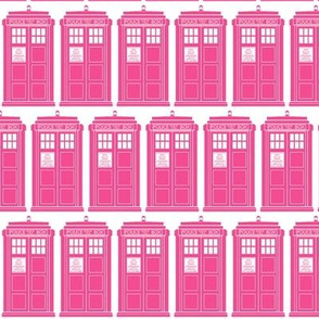 Tiny pink phone boxes