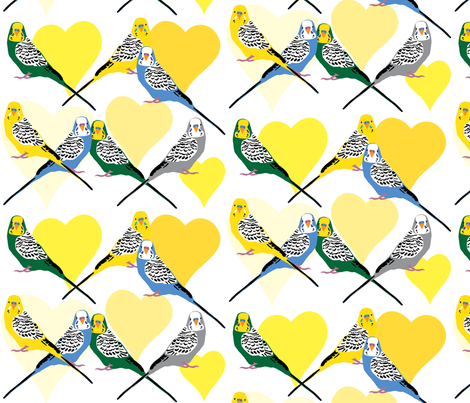 I Heart Budgies - Yellow