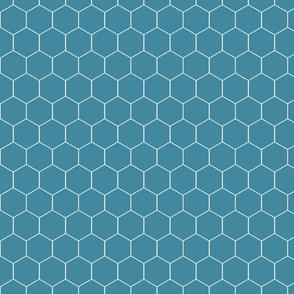 Honeycomb in Antique Blue Bonnet