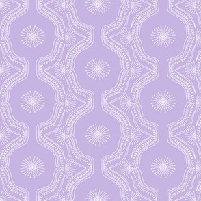 Lace Starburst Hand Drawn on Lavender
