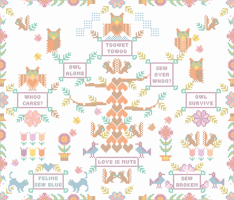Owl_Never_Love fabric by paula's_designs on Spoonflower - custom fabric