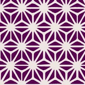 Dark Purple Japanese Asanoha Pattern