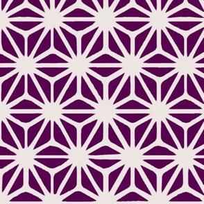 Dark Purple Japanese Asanoha Pattern