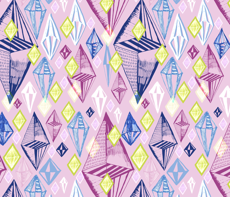 Tumbling Gemstones fabric by slumbermonkey on Spoonflower - custom fabric