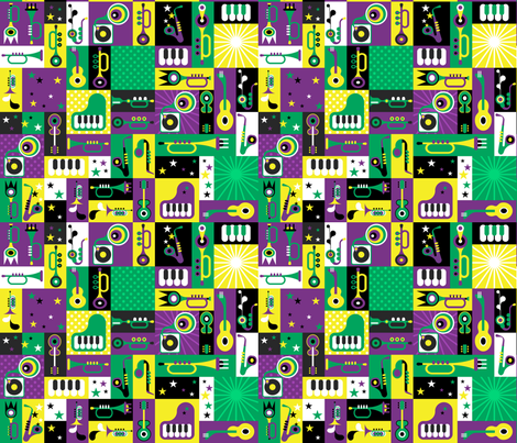 French Quarter Block Party fabric by implexity on Spoonflower - custom fabric