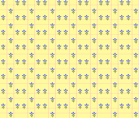 pinkyellowpattern fabric by penelopeventura on Spoonflower - custom fabric