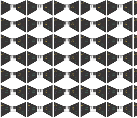 Bow It Up For Jazz fabric by evy_nicole on Spoonflower - custom fabric