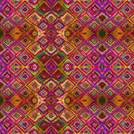 Trip to India in Magenta, Curry, and Rose fabric by theartwerks on Spoonflower - custom fabric